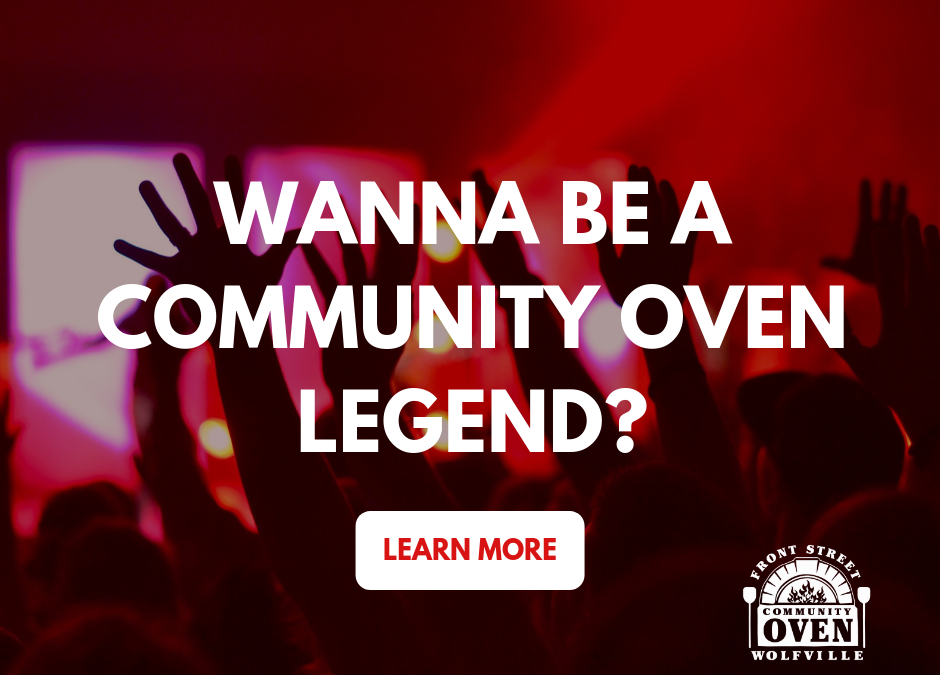 Wanna be a Community Oven Legend?